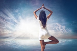 Long Hair Woman Doing Yoga Pose